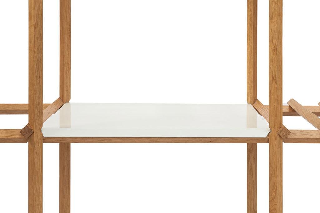 Angled Cabinet - paneel aluminium wit