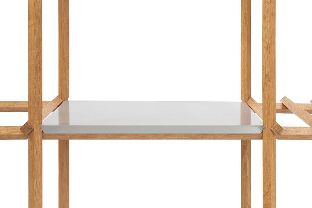 Angled Cabinet - paneel aluminium grijs
