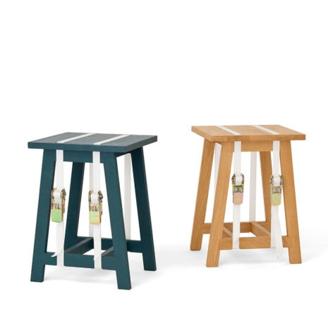 vij5 strap stool coloured linseed oil green 2017 image by vij5 5
