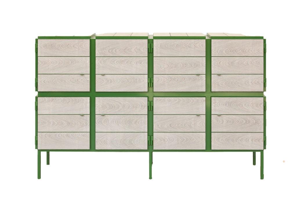 vij5 framed cabinet 4x2 door custom size custom colour ral6010 image by vij5 2opwit