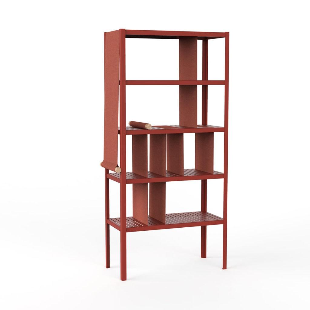 dressed cabinets ral3016 kvadrat566 hoog doek2