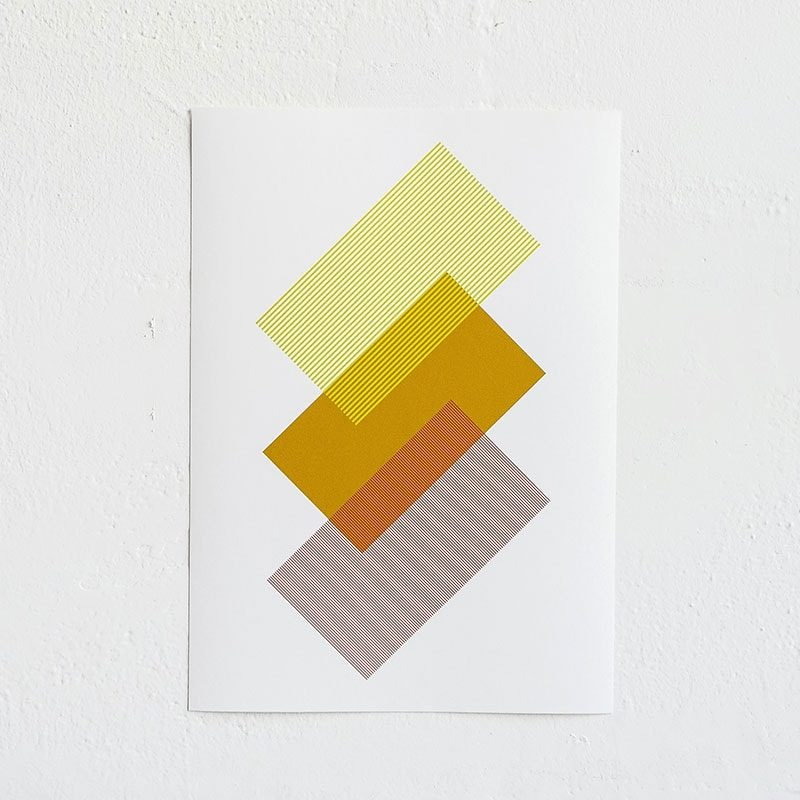 solids strokes print by raw color a4 yellow