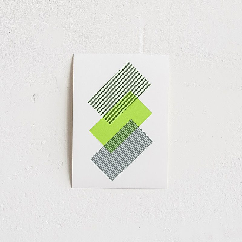 solids strokes print by raw color a5 green
